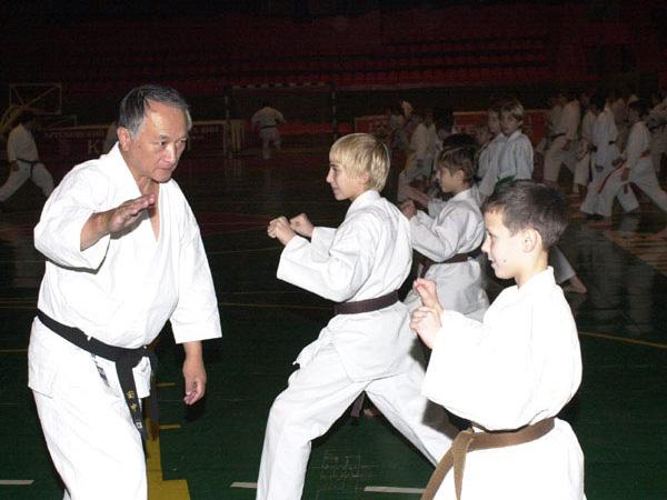 Seminar karate fudokan - ilija jorga 8 dan in ukraine 1999